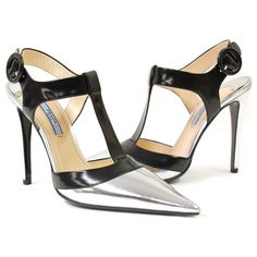 Prada Metallic Pumps  Available in our Boston Location  (508) 735-4346