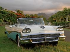 '58 Ford Fairlane 500 Skyliner-- same color-not convertible
