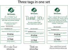 Girl Scout Cookie door tags
