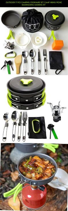 Outdoor 17 Pcs Camping Cookware Set, Camp Hiking Picnic Backpacking Cooking Kit  #tech #shopping #outdoor #plans #cooking #fpv #parts #products #drone #kit #technology #camera #gadgets #racing