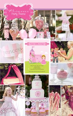 Madison has informed me she wants a princess party for her birthday. It's not for a long time and she'll probably change her mind by then but I'll start pinning ideas in the meantime. 4th Birthday Parties, Girl Birthday, Birthday Ideas, Party Time, Party Party, Party Ideas, Pretty Pink Princess, Princess Party Invitations, Fairytale Party