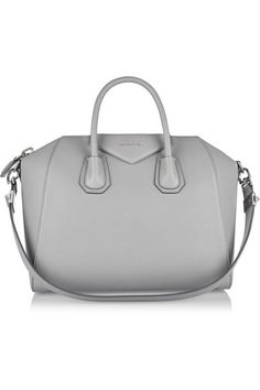 Givenchy   Medium Antigona bag in gray textured-leather   NET-A-PORTER.COM