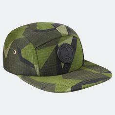 Qilo Camp Cap Swedish M90 Circle Logos, Diamond Quilt, Black Satin, Patches, Camping, Cap, Fabric, Leather, Campsite