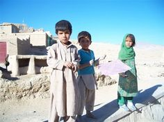 Kite running. Afghanistan.