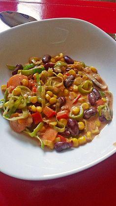 Gemüsepfanne, mexikanisch, ein sehr schönes Rezept mit Bild aus der Kategorie Gemüse. 111 Bewertungen: Ø 4,5. Tags: Gemüse, Hauptspeise, Hülsenfrüchte, Schmoren, Vegetarisch