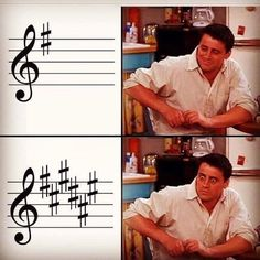 Sightreading in G Major / E minor 😍 vs. Sightreading in F# Major / D# minor 😫 . Classical Music Humor, Orchestra Humor, Musician Memes, Music Jokes, Funny Music, Band Jokes, Instagram Music, Band Nerd, Saddest Songs