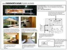 Afficher l'image d'origine Casa Farnsworth, Ludwig Mies Van Der Rohe, Cabins, Mid-century Modern, Buildings, Floor Plans, Houses, Arquitetura, Home