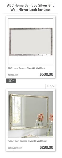 ABC Home Bamboo Silver Gilt Wall Mirror vs Pottery Barn Bamboo Silver Gilt Wall Mirror