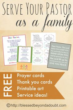 October is Pastor Month. FREE Printables and ideas to help your family bless your pastor.