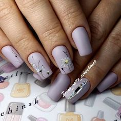 New Gorgeous Clear Nail Designs to Inspire You - Page 15 of 56 - ladynailstyle Clear Nail Designs, Flower Nail Designs, Flower Nail Art, Nail Designs Spring, Beautiful Nail Designs, Nail Art Designs, Clear Nails, Nail Polish Art, Cool Nail Art