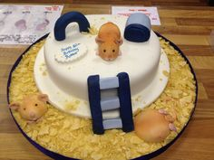 Hamster cake made by us