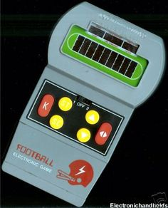 The beginning of electronic hand held games..I had one!  Miss you, Daddy...