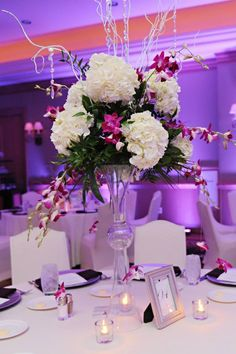 Centerpiece, Purple, Wedding, Tampa, Orlando, Clearwater. Best Photographer Ever!  Rhodes Studios: http://www.rhodesstudios.com, Hyatt Regency Clearwater Beach Resort and Spa: http://www.clearwaterbeach.hyatt.com, Flowers: http://beautifultampaweddings.com, Frequency Band:  http://www.frequencybandorlando.com, Cake: http://www.cakesbynomeda.com, MMD Events: http://www.mmdevents.com, Lighting: http://www.baystagelighting.com/ Comment if you have any questions about where I got things!