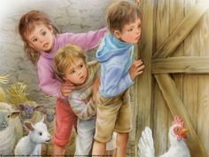 Grandchildren!! Pictures To Paint, Art Pictures, Painting For Kids, Art For Kids, Marcel, Illustration Photo, Kawaii Background, Kid Poses, Animal Totems