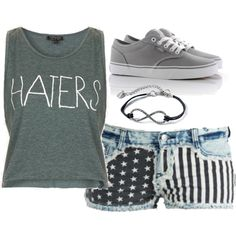 """""""HATERS"""" by ilove-cherlloyd on Polyvore"""