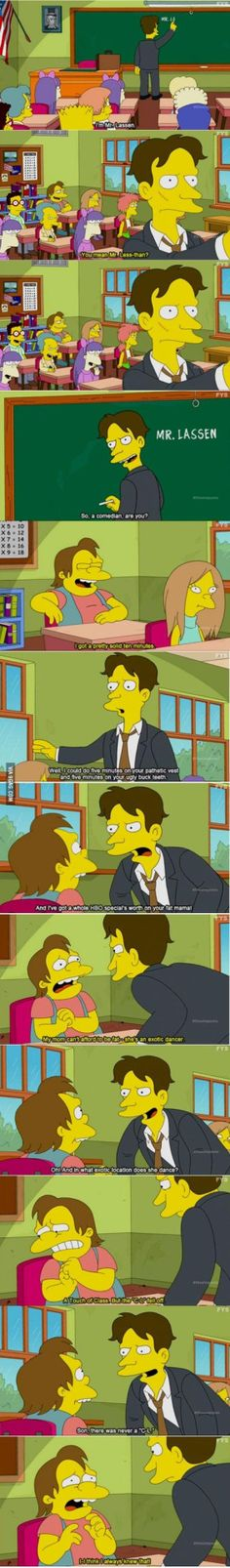 When a bully gets bullied (Simpsons) http://ift.tt/2pmsLw4 #lol #funny #rofl #memes #lmao #hilarious #cute