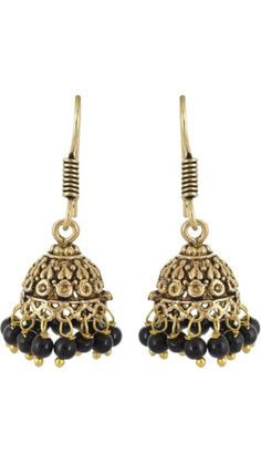 Buy Waama Jewels pretty black Metal Jhumki Earring, Earring Wear in patry, flirty earring, jewellery for gift, bollywood, Craft Supplies & Tools Online at Low Prices in India - Paytm.com