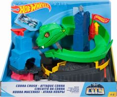Check out the Hot Wheels City Cobra Crush Play Set at the official Hot Wheels website. Explore the world of Hot Wheels City today! Kids Toys For Boys, Crafts For Kids, Nerf Toys, Brand Stickers, Baby Alive, Shops, Disney Toys, Birthday List, Legos