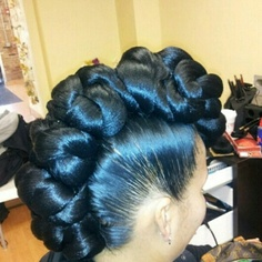 Twisted Knotted Mohawk, natural hair, protective style