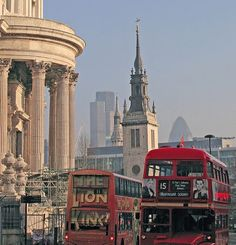 London's Best    Almost all iconic London landmarks in a single frame. 1 St Paul's, 2 churches, 2 skyscrapers and a routemaster...