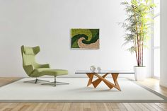 This zero maintenance moss art is entirely made with preserved flat moss, reindeer moss and rock moss to create a beautiful modern design that enhance and make any interior unique. Rain Painting, Abstract Landscape Painting, Large Painting, Woman Painting, Abstract Paintings, Abstract Art, Purple Painting, Wildlife Paintings, Wildlife Art