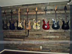 Pallet Wall Idea Custom Man Cave Jam Room Music Room