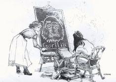 "Concept art for Disney's ""Tarzan"" by Paul Felix."