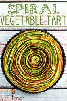 Spiral Vegetable Tart: thinly sliced vegetables are the visual star of this edible artwork. With a layer of homemade sundried tomato pesto and a flaky pie crust, this tart is as delicious as it is beautiful! Vegan and gluten free options, too! Tart Recipes, Vegetable Recipes, Vegetarian Recipes, Cooking Recipes, Vegetable Tart, Vegetable Side Dishes, Thanksgiving Vegetables, Thanksgiving Appetizers, Tapas