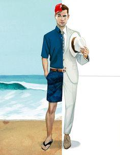 Fashion men III by Fernando Vicente, via Behance