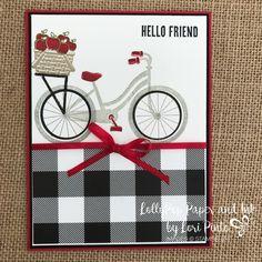 Stampinup!, Bike Ride Stamp Set, Build a Bike Framelits Dies, Wood Words Stamp Set, Hello Friend by Lori Pinto