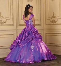 Dark Elegant Color in Gothic Wedding Dress: classic purple Gothic ...