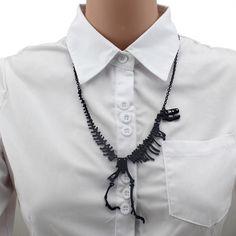 2016 женщины мода горячая распродажа ювелирные изделия связаны окаменелость динозавра скелет ожерелье подарочные девушки леди EB87 бесплатная доставка 2015 купить на AliExpress