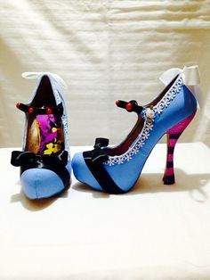 Just love these, Id have to have them on show forever! Alice in Wonderland Custom Rhinestone Heels/ by AWhimsicalHoot, $350.00