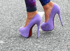 Purple high heel #shoes Yup I need these asap