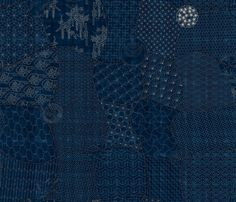Sashiko: The Collection Sampler fabric by bonnie_phantasm on Spoonflower - custom fabric