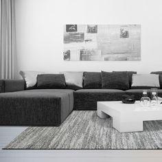 Neutral Toned Stylish Modern Area Rug In Grey