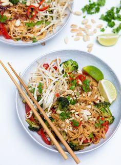 15 Minute Vegan Pad Thai - (Gluten Free) - Healthy Living James