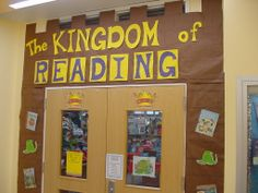 Kingdom of Reading Library Decorations, Library Themes, Library Ideas, Book Tasting, Book Fairs, Enchanted Forest Theme, Gifted Students, March Month, Fallen Book