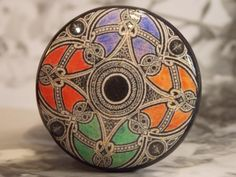 1-1/2 Dresser Knobs Viking Tapestry Jewel by dynastyprints on Etsy