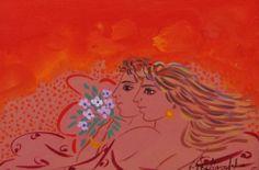 .:. Σταθόπουλος Γεώργιος – Georgios Stathopoulos [1944] Greek Drawing, Contemporary Decorative Art, Popular Art, Naive Art, Stage Design, Athens, Flower Art, Folk Art, Objects