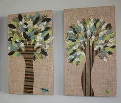 wall-decorating-ideas-burlap-fabric-art-decor