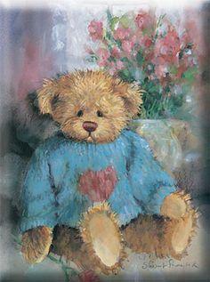 painting of a teddy-bear
