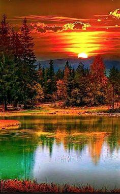 What a beautiful sunset painting inspiration! Klári Beke - Google+