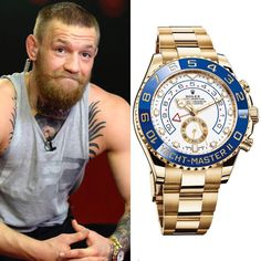 UFC champion Conor McGregor wears a Gold Rolex Yacht-Master II with Oystersteel. Presenting the finest Men's Watches collection inspiration sharing. Best gift for men in fine suits. Dream Watches, Men's Watches, Cool Watches, Fashion Watches, Watches For Men, Handmade Bracelets, Bracelets For Men, Stone Bracelet, Bracelet Watch