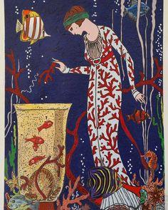 """Mi piace"": 34, commenti: 2 - massimo j. monaco (@massimo.j.monaco.artist) su Instagram: ""THE MERMAID (Les poissons rouges de Matisse series) 2017 cm 38×29 #acryliconpaper #pastel…"""