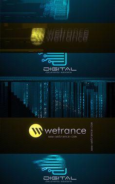 Wetrance Fast Glitch Logo