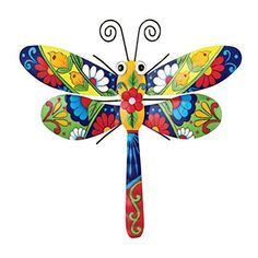 Collections Etc Colorful Metal Mexican Talavera-Style Insect Garden Wall Art for Indoor and Outdoor Decoration, Dragonfly Tree Wall Decor, Wall Art Decor, Wall Decorations, Dragonfly Wall Art, Butterfly Art, Arte Country, Garden Wall Art, Metal Tree Wall Art, Metal Artwork