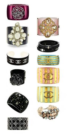 So Delish, Yummy, Drool-Worthy! Chanel Bangles, Bracelets and cuffs #PurelyInspiration #Chaneljewelry