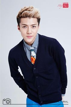 Lotte Duty Free Facebook Update: Sehun (cr: Lotte Duty Free (롯데면세점)