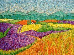 beautiful eggshell mosaic designs by Lyubov Meshakina